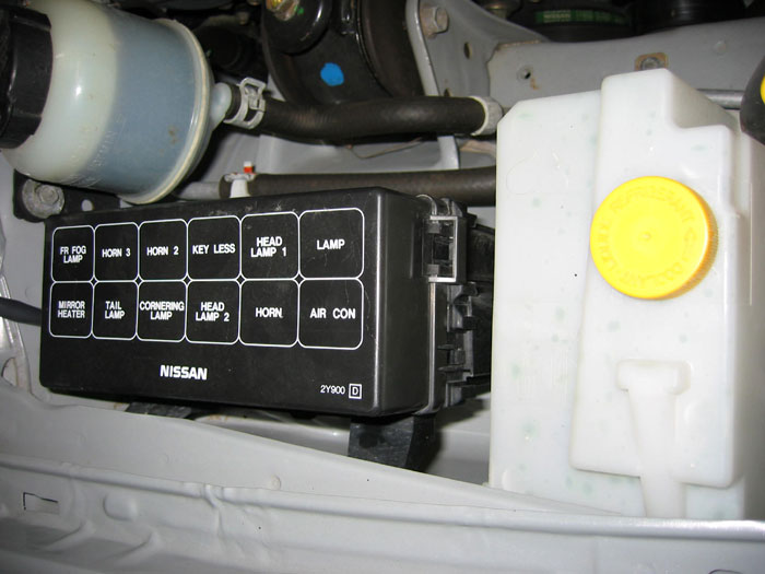 IMG_2503 nissan maxima how to's by housecor how to rewire fogs to come 04 Nissan Maxima Fuse Box Diagram at gsmx.co